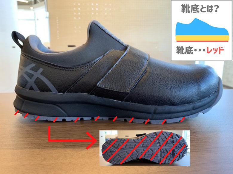ウィンジョブCP303の靴底