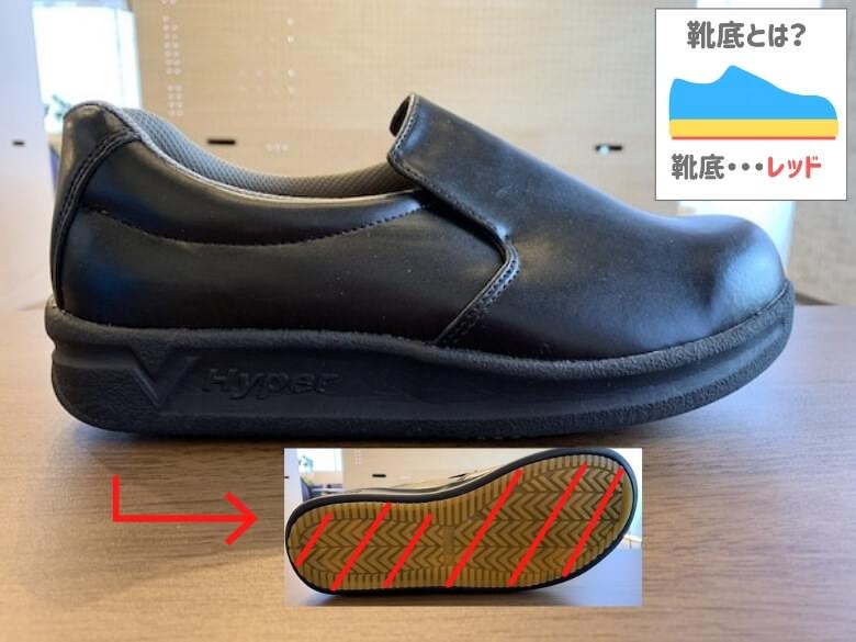 ハイパーV#5000の靴底