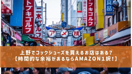 上野でコックシューズを買える店