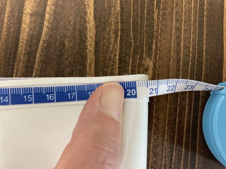ハイグリップHG2000Nの履き口周りは、41.cm