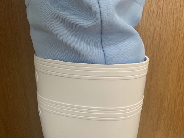 ハイグリップNHG2000は厚手の白衣でも隙間ができない