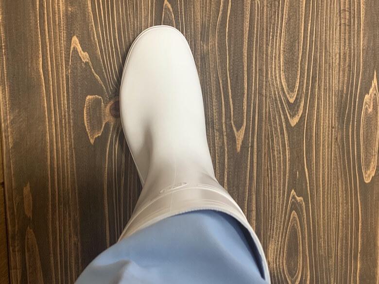 ハイグリップNHG2000は厚手の白衣でも隙間が少ない