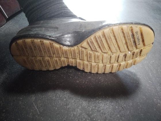 シェフメイトグラスパーCG-002の靴底はすり減りにくい