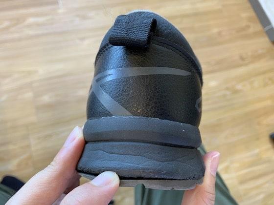 アシックス ウィンジョブcp-303 カカトの靴底剥がれ