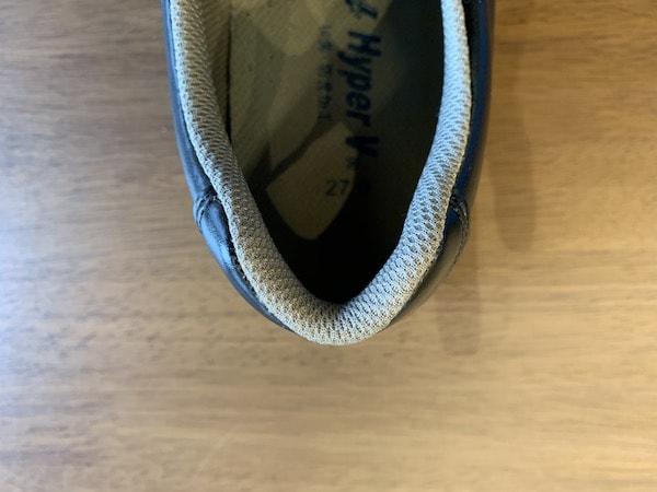 ハイパーV5000のカカトの形状は足にフィットしやすい