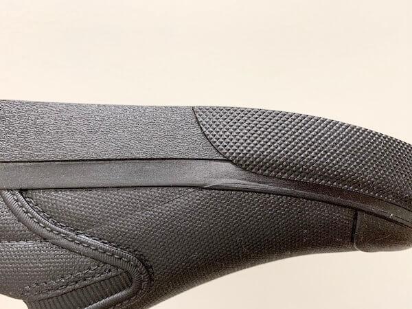 マンダムプログリップシューズの靴底の溝が見えない