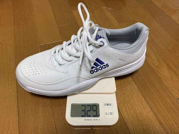 アディダスのナースシューズの重量を計測しました。