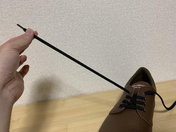 プレミアムコンフォートPRM210は紐が伸びやすい