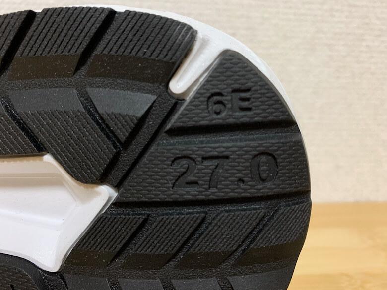 スポルディングの安全靴は、6Eで幅広