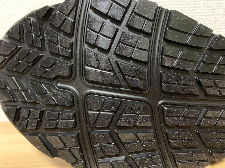 ウィンジョブ®︎CP602G-TXの靴底は擦り減りにくい