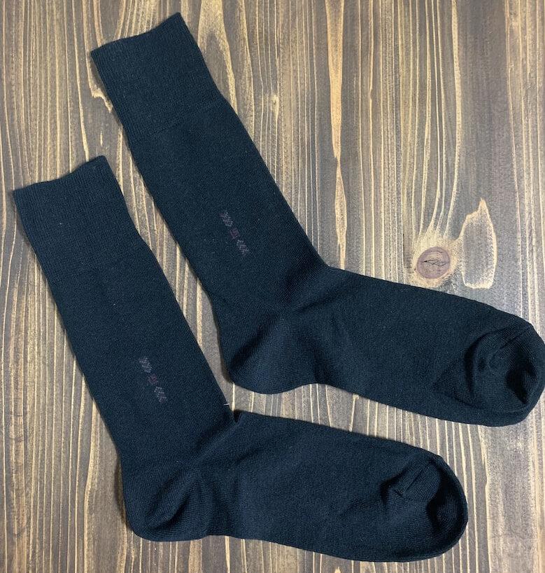 革靴のレビューで使用した靴下(ソックス)