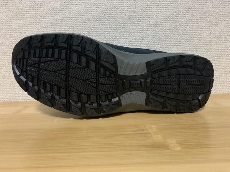 ムーンスターSPLT197の靴底は、すり減りにくく滑りにくい