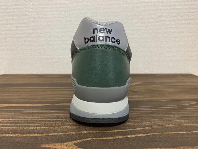 ニューバランス996のクッションは靴底へ向けて広くなっている