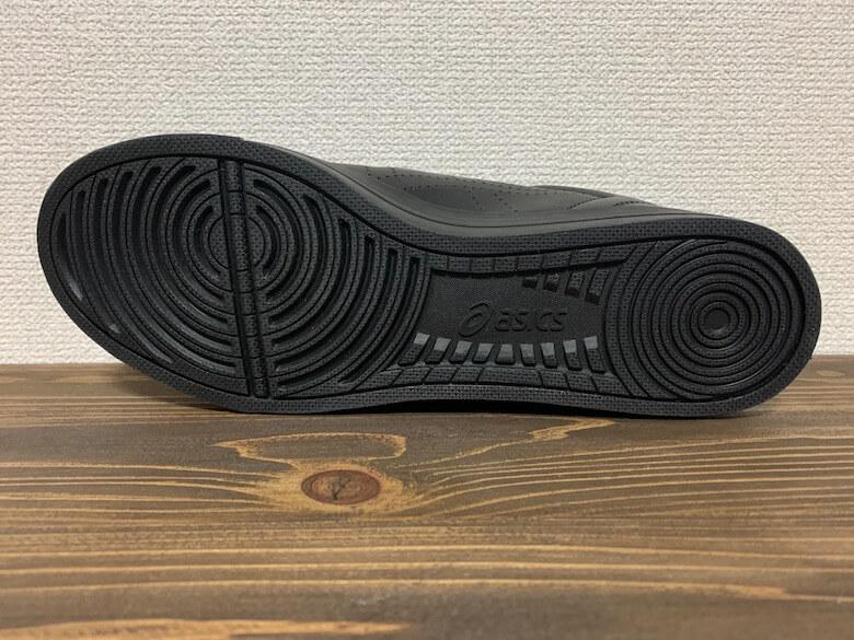 アシックスのLYTECOURTはすり減りにくい靴底
