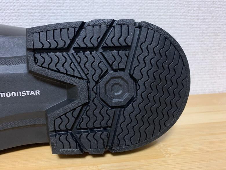 ムーンスターのバランスワークスの靴底はすり減りにくい
