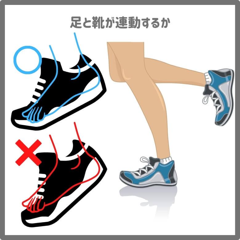足と靴が連動する