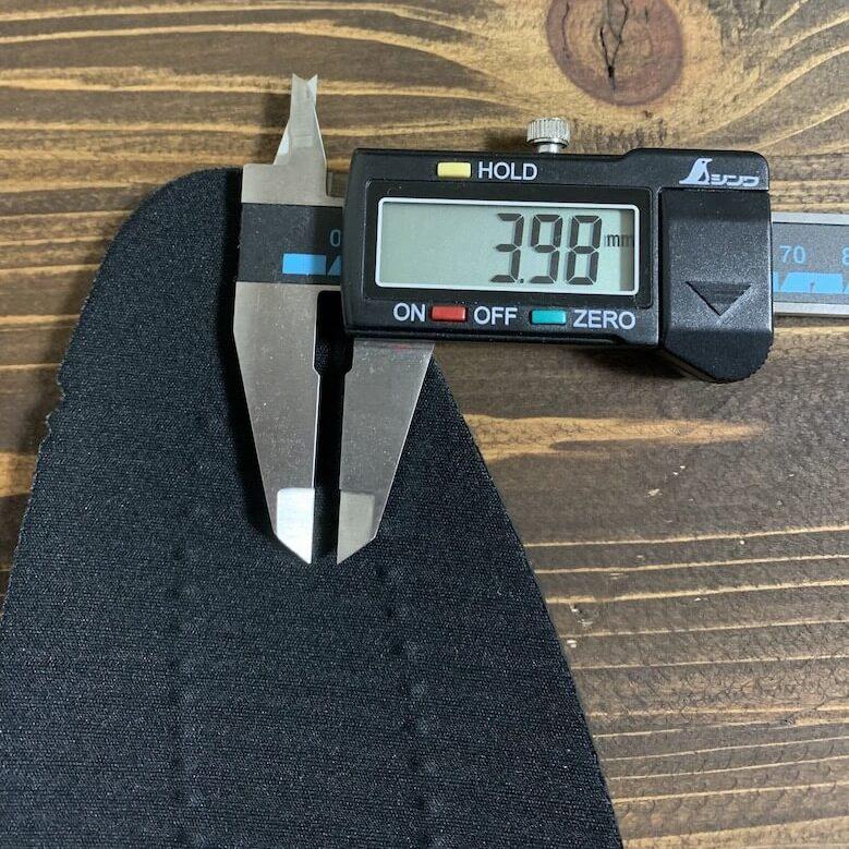 マドラスウォークMW8001の厚みは3.98mm