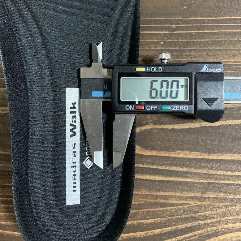 マドラスウォークMW8001の厚みは6.00mm