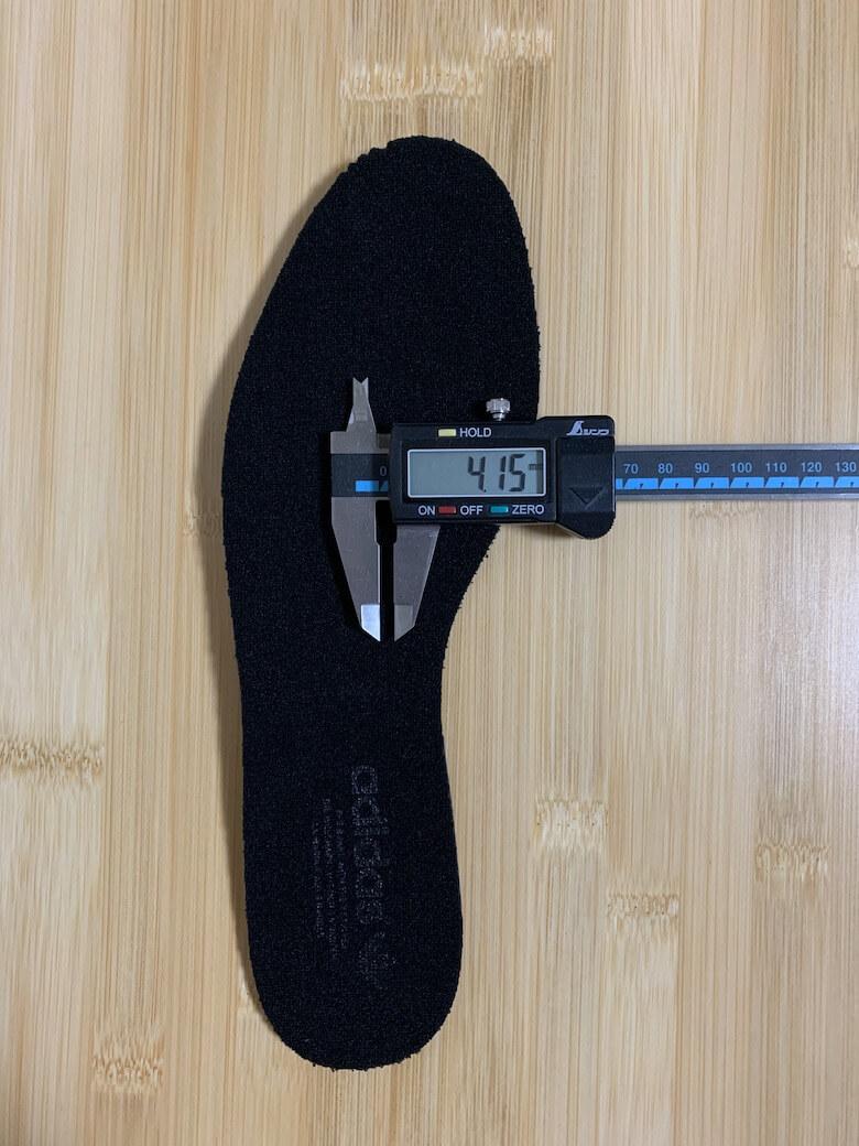 スタンスミスのインソールの厚みは4.15mm