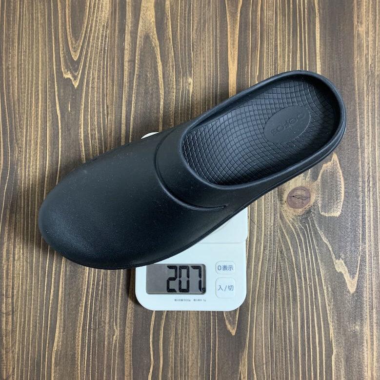 ウーフォスOOcloogの重量は28.0cmで207g