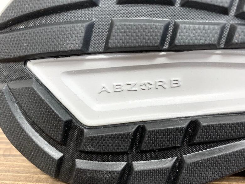 ニューバランスMW550のクッション素材は独自素材のアブゾーブ