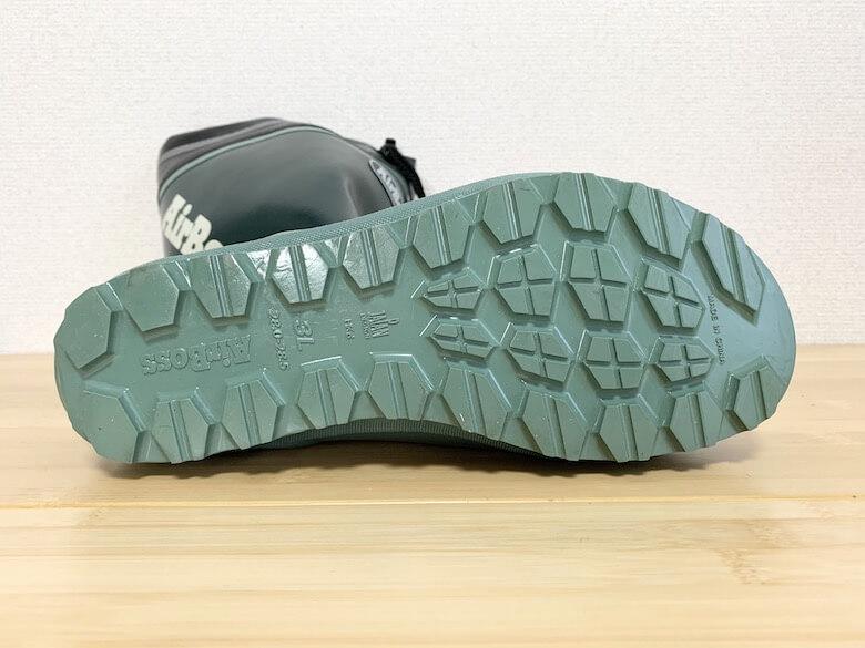 エアボスは滑りにくい靴底