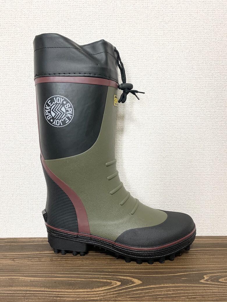 福山ゴムの長靴『スパイクジョイ』のサイズ感はすこし大きめ