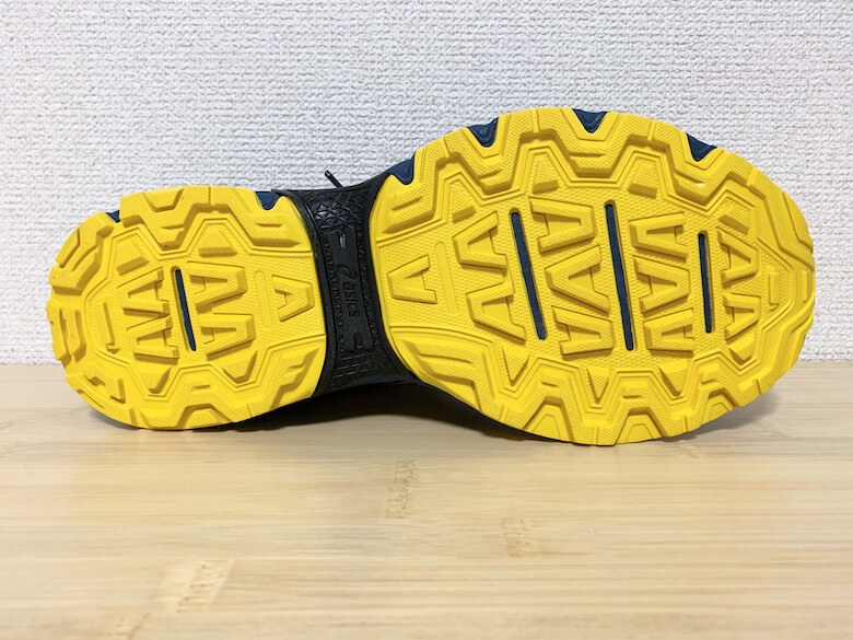 GEL-VENTURE8は滑りにくい靴底