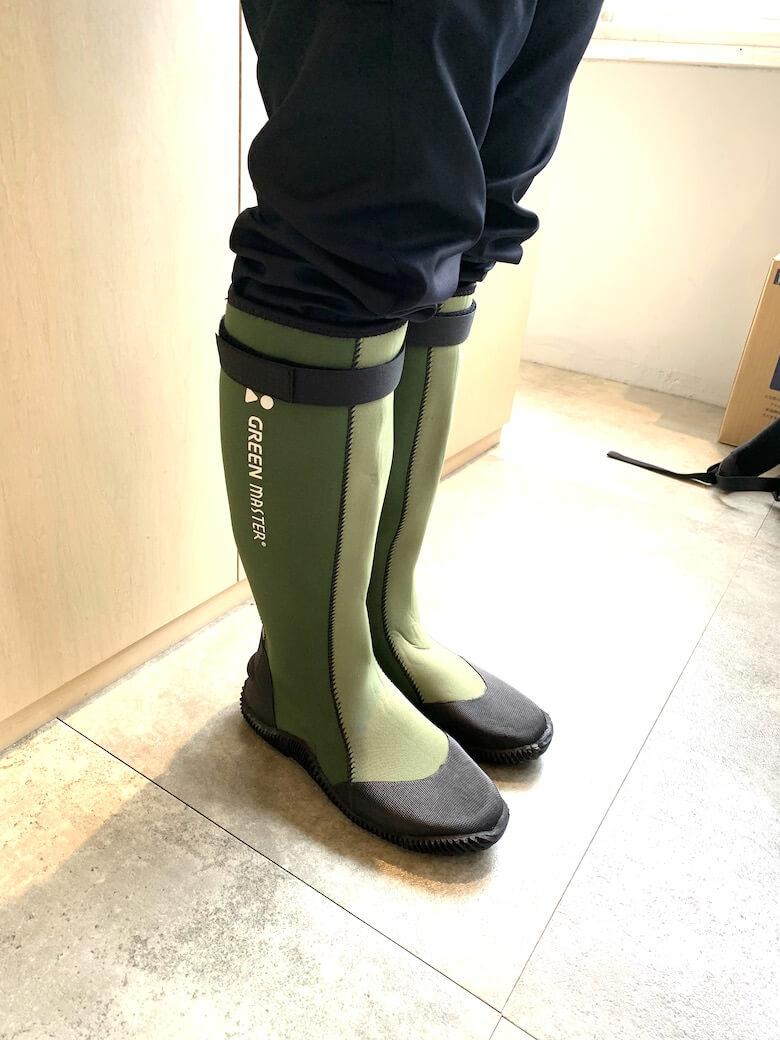グリーンマスターのサイズ感は普段履きと同じでOK