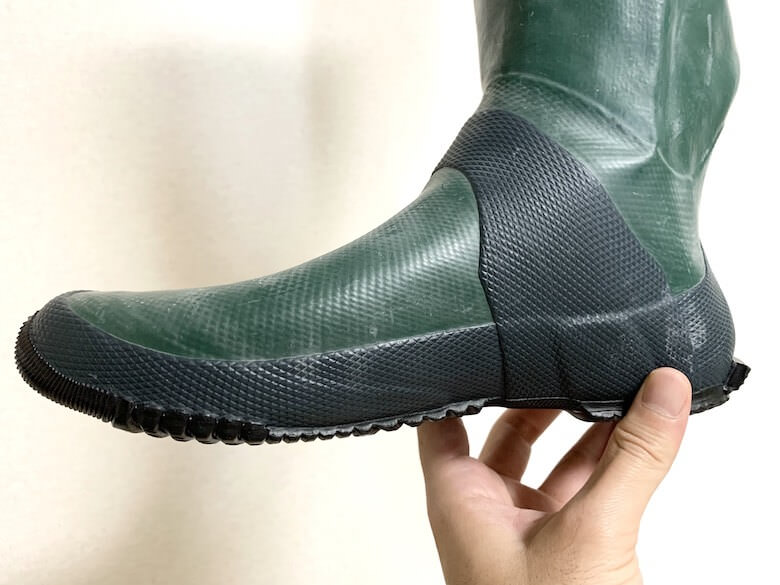 野鳥の会の長靴はローアーチ