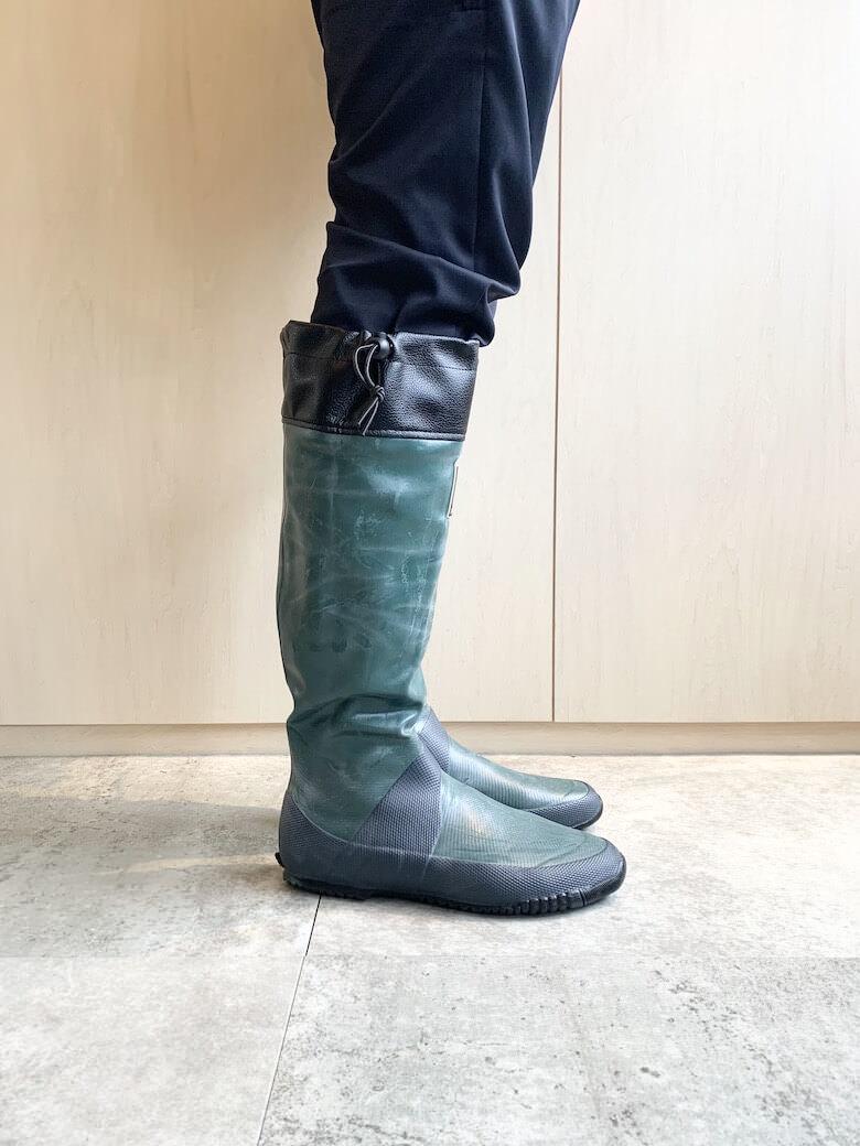 日本野鳥の会の長靴のサイズ感